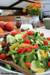 Salad with Creamy Herb Dressing Photo by Rocky Coast Photography
