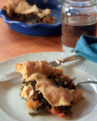 Delicata Squash and Kale Pot Pie